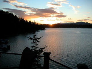 Sunset over Hayden Lake